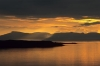 Sunset over Gairloch towards the Isle of Skye, North West Scotland, UK