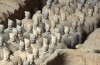 Army of  Terracotta Warriors in Emperor Qin Shihuangdis Tomb,  Xian, Shaanxi, China