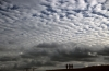 Altocumulus billows clouds produce what is known as a mackerel sky
