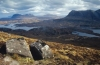Assynt Coigach in the North West Scottish Highlands, from the top of Stac Pollaidh Mountain