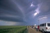 Storm chasers watch in Hill City Kansas