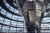 The Reichstag or Parliament Building in Berlin Germany A classic piece of modern architecture