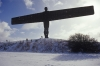 The Angel of the North in the winter