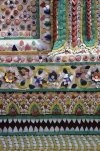 Detail of chinese porcelain mural in Grand Palace & Wat Phra Kaeo Bangkok Thailand