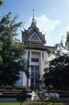 Memorial stupa at Choeung Ek Killing Fields, Cambodia, Asia