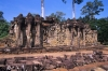 Bas reliefs on the Elephant Terrace Angkor Thom Temple Complex Cambodia