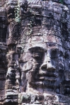 Carved stone Face towers at the Bayon Temple, Angkor Thom Cambodia