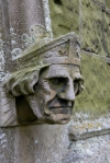 Gargoyle at the Church of St. Helen at West Keal in Lincolnshire