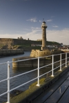 Whitby Pier and lighthouses