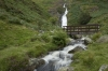 Rhaeadr-fach Waterfall in Coedydd Aber National Nature Reserve