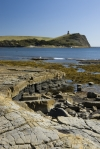 Kimmeridge Bay and Clavell's Tower in Dorset