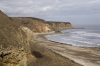 D16748 - The cliffs and beach at Easington Colliery on the coast at County Durham