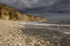 D16780 - The cliffs and beach at Easington Colliery on the coast at County Durham