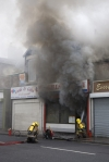 Shop fire - Sunderland, Tyne and Wear