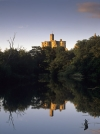 Warkworth Castle, viewed along the River Coquet , Northumberland