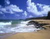 Secret Beach, Kilauea, Kaui in the Hawaiian Islands