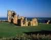 Tynemouth Priory at the mouth of the River Tyne, England