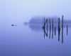 Misty morning at the landing on Derwentwater
