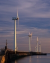 Wind turbines at the Port of Blyth Northumberland England