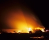 A large fire in a barn in Texas USA was started by arsonists