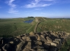 Hadrians Wall at Steel Rigg in Northumberland
